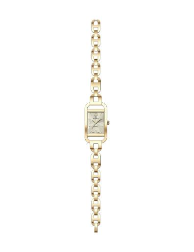 Everswiss Women's Ladies Fancy  Champ Dial Yellow Gold Plated Stainless Steel Watch. 1697-LGC