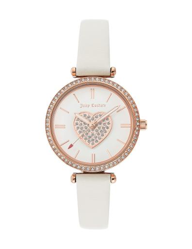 Juicy Couture Women's Leather White Dial White Leather Watch. JC1268RGWT