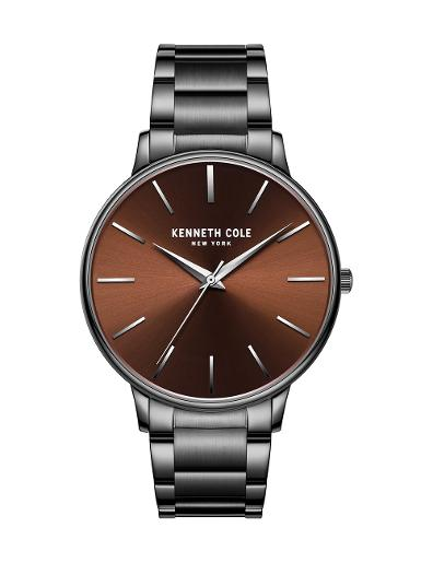 Kenneth Cole Men's Classic Brown Dial with Grey Steel Watch KC51111007