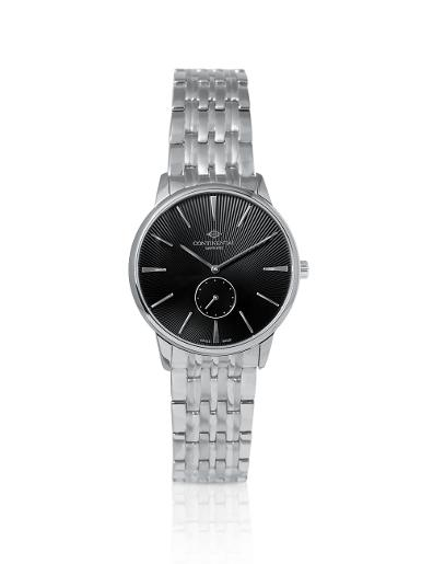 Continental Women's Classic Black Dial Steel Metal Watch. 17201-LT101430