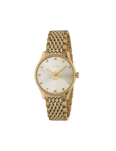 Gucci  Mens's G-TIMELESS Silver Dial Gold Stainless Steel with Gold PVD Watch.  YA1264155