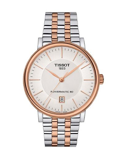 Tissot  Men Classic Stainless steel Round Silver Dial Mechanical Watch  T122.407.22.031.01