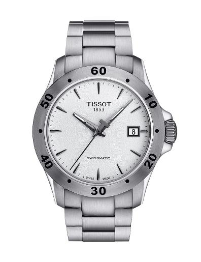 Tissot Men Sport Stainless steel Round Silver Dial Mechanical Watch T106.407.11.031.01