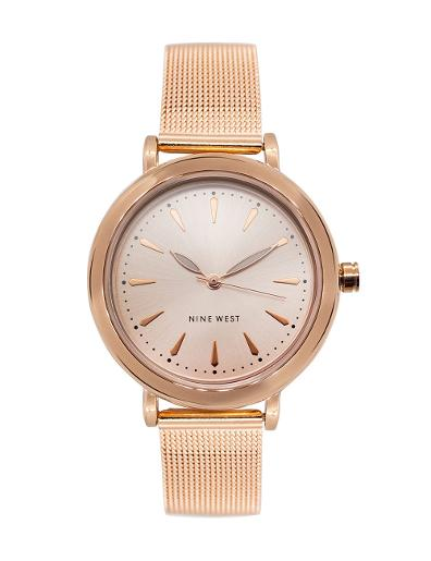 Nine West Women's Trend Rose gold Dial Rosegold Stainless Steel Watch. NW2392RGRG