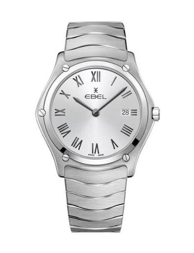 Ebel Men's Sport Classic Silver Dial Silver Stainless Steel Watch. 1216455A