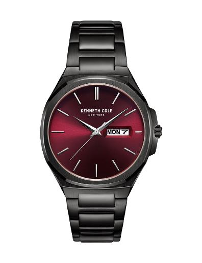 Kenneth Cole Men's Classic Red Dial with Black Steel Watch KC51101002