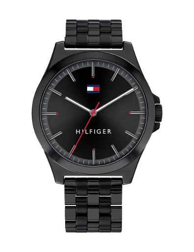 Tommy Hilfiger Men's Barclay Black Dial Black Stainless Steel Watch. 1791714