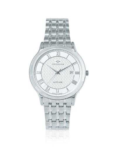 Continental Men's Classic Silver Dial Steel Metal Watch. 18351-GD101110