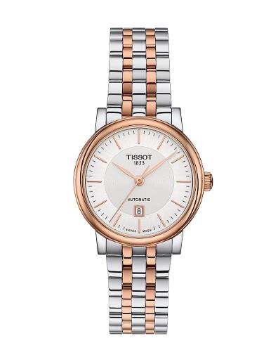 Tissot  Women Classic Stainless steel Round Silver Dial Mechanical Watch  T122.207.22.031.01