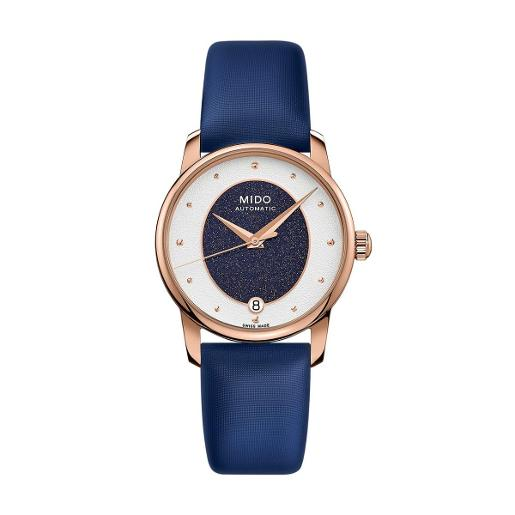 Mido Mido Automatic  Baroncelli Women  Blue Synthetic Stainless steel Oval White Dial Watch M035.207.37.491.00