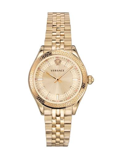 Versace Women's HELLEN.LADY Gold Dial Gold stainless steel Watch. VEHU00720