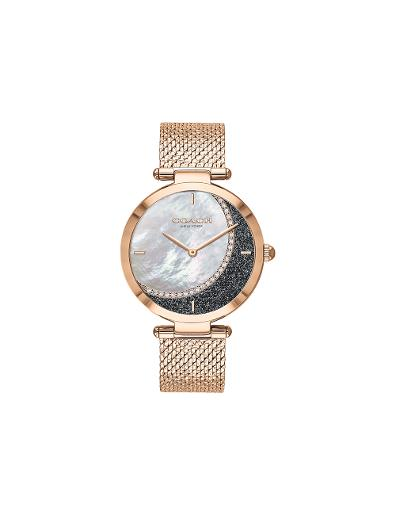 COACH Women's PARK Mother of Pearl Dial Rose Gold Stainless Steel Watch. 14503766