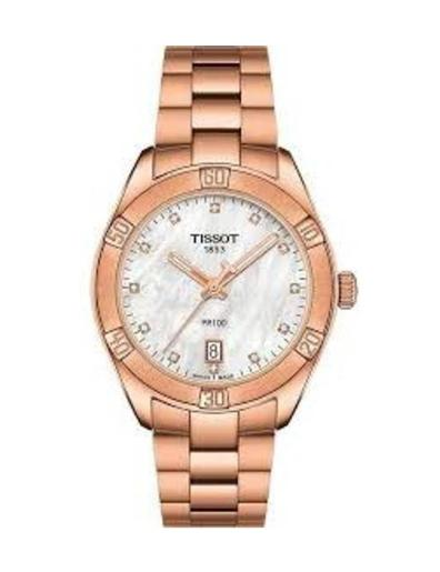 Tissot Women's Classic WHITE MOTHER OF PEARL Dial Rose Gold Stainless steel Watch. T101.910.33.116.00