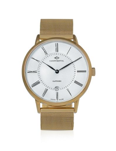 Continental Men's Classic Silver Dial Yellow Gold Metal Watch. 18501-GD202110