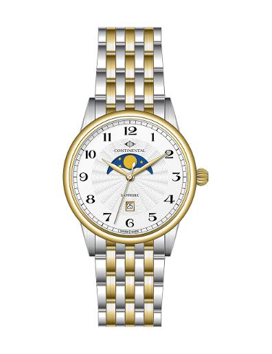 Continental Men's Classic Silver Dial Bicolor (Yellow Gold / Steel) Metal Watch 20507-GM312120