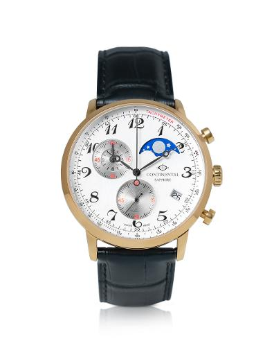 Continental Men's Classic White Dial Black Leather Watch. 18502-GC254720