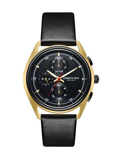 Kenneth cole Men's Classic Black Dial Black Stainless Steel Watch. KC51028002