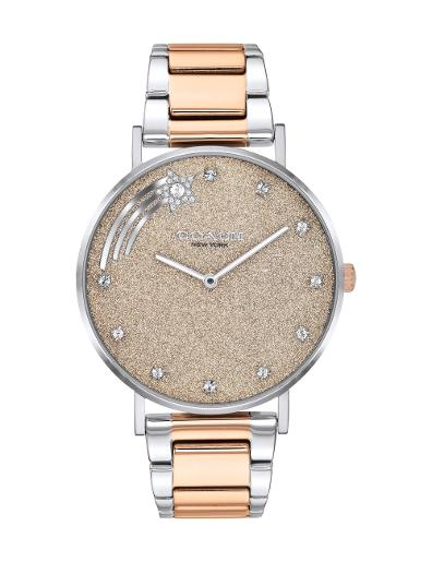 Coach Women's Perry Brown Dial Two Tone Stainless Steel Watch. 14503522