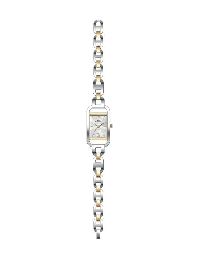 Everswiss Women's Ladies Fancy  Silver Dial Stainless Steel with Yellow Gold colour plated Stainless Steel Watch. 1697-LTS