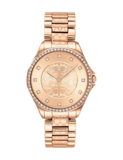 Coach Women's Astor Rose Gold Dial Rose Gold Stainless Steel Watch. 14503505