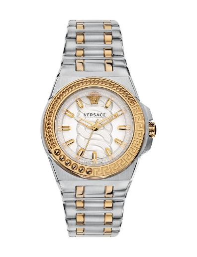 Versace Women's CHAIN REACTION Silver Dial Silver stainless steel Watch. VEHD00420