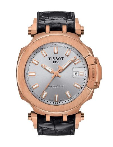 Tissot  Men Sport Stainless steel Round Silver Dial Mechanical Watch  T115.407.37.031.00