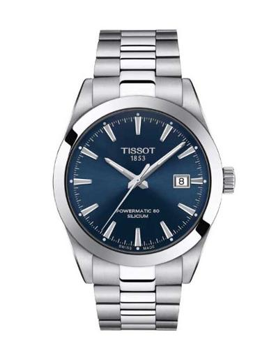 Tissot Men's Gentleman Blue Dial Silver Stainless steel Watch. T127.407.11.041.00