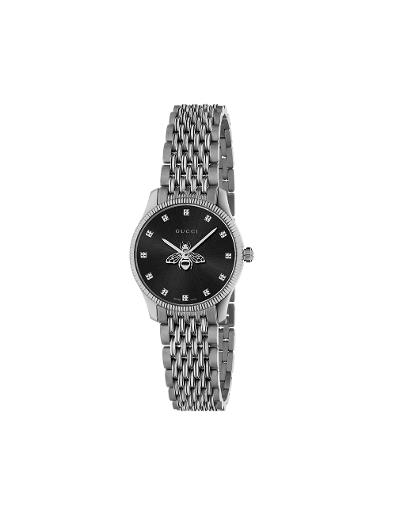 Gucci  Women's G-TIMELESS Black Dial Silver Stainless Steel Watch.  YA1265020