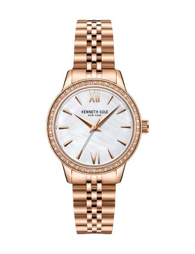 Kenneth Cole Women's Classic White Dial with Rose gold Steel Watch KC51110003
