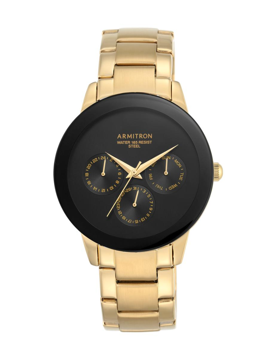 Armitron  Men's Gold Tone  205165BKGP