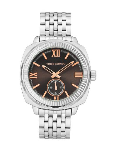 Vince Camuto Men's Metal Grey Dial Silver Stainless Steel Watch. VC1132GYSV
