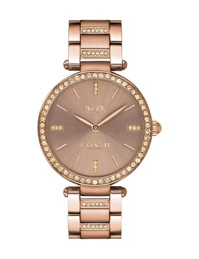 Coach Women's PARK COFFEE Dial Brown Stainless Steel Watch. 14503627