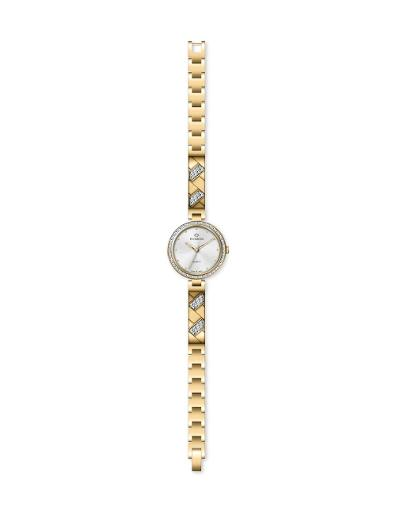Everswiss Women's Ladies Fancy  Silver Dial Yellow Gold Plated Brass Watch. 2810-LGS