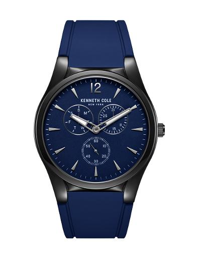 Kenneth Cole Men's Multifunction Blue Dial with Blue Silicon Watch KC51124002