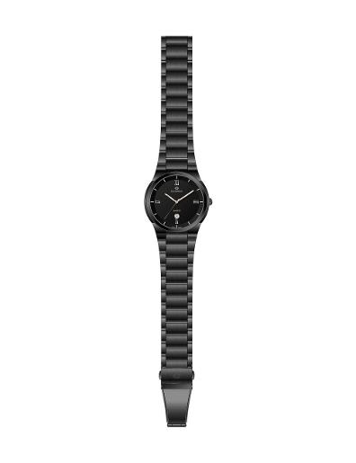Everswiss Men's Metal Solid Band Pair Black Dial Black colour plated Stainless Steel Watch. 9740-GBB