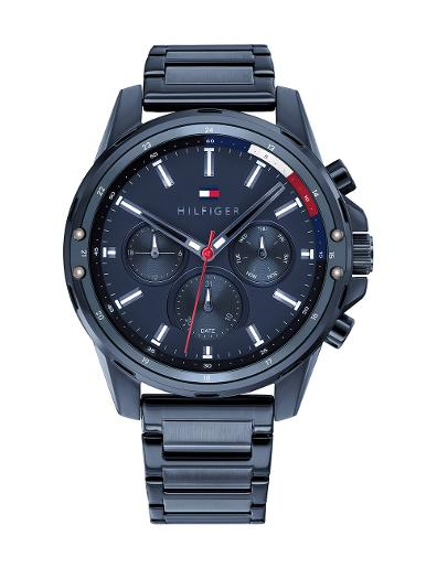 Tommy Hilfiger Men's Mason Blue Dial Blue Stainless Steel Watch 1791789