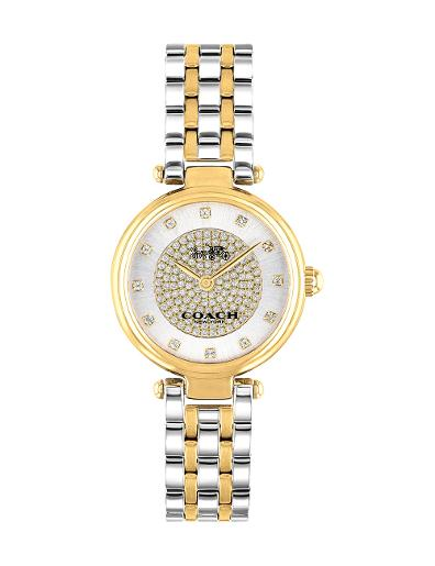 Coach Women's park white dial two tone stainless steel watch 14503643