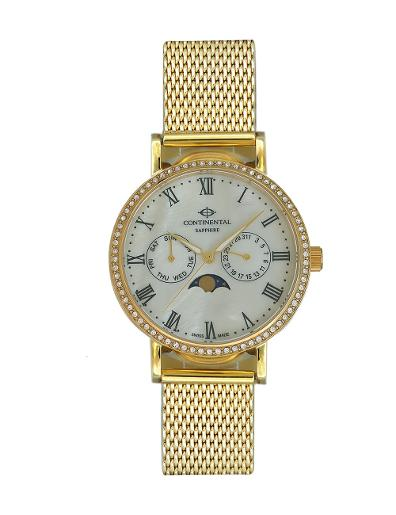 Continental Women's Classic Mother of Pearl Dial Yellow Gold Metal Watch. 19501-LM202471