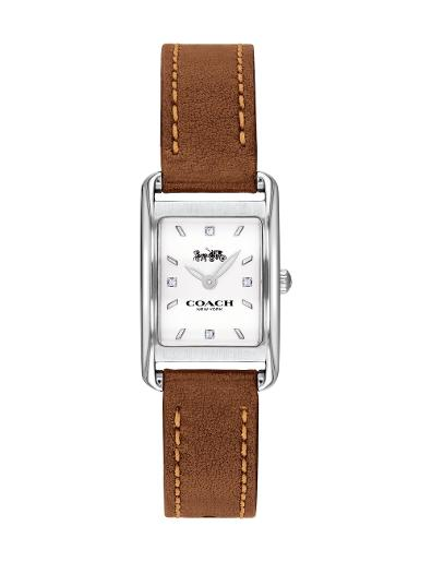 Coach Women's Allie White Dial Brown Leather Watch. 14503306