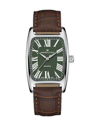 Hamilton Men's American Classic Green Dial Green Brown Watch. H13519561