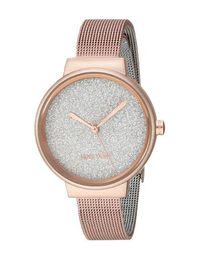 Nine West Women's Trend Silver Dial Rosegold Stainless Steel Watch. NW2396RGRG
