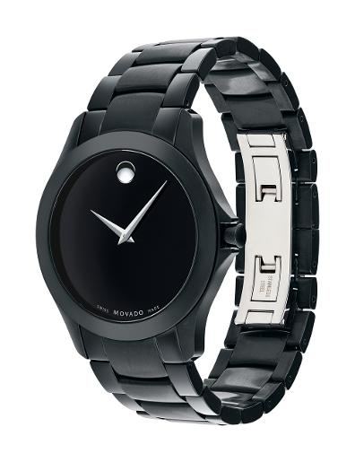 Movado Men's Masino Black Dial Black Bracelet Watch. 607035
