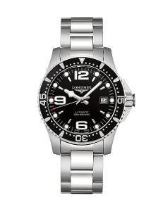 Longines  Men's HYDROCONQUEST Black Dial  Stainless Steel Watch.  L37424566