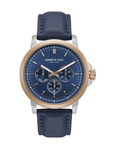 Kenneth cole Men's Sports Classic Blue Dial Blue Stainless Steel Watch. KC50689005