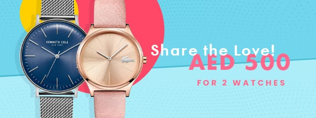 Buy 2 Watches for AED500