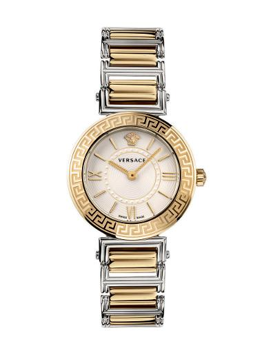 Versace Women's TRIBUTE White Dial Two tone stainless steel Watch. VEVG00820