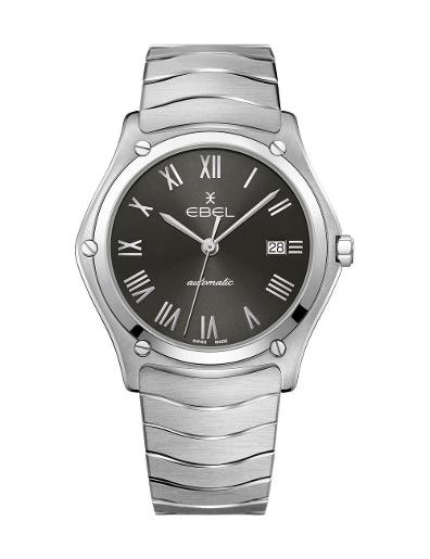 EBEL Men's Sport Classic Grey Dial Silver Stainless Steel Watch. 1216431A