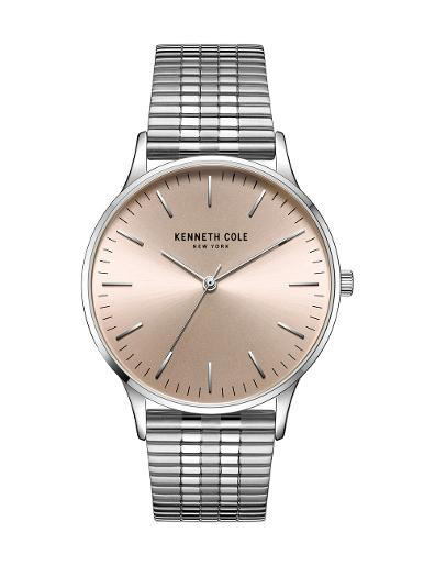 Kenneth Cole Men's Classic Rose Gold Dial with Silver Steel Watch KC50918012