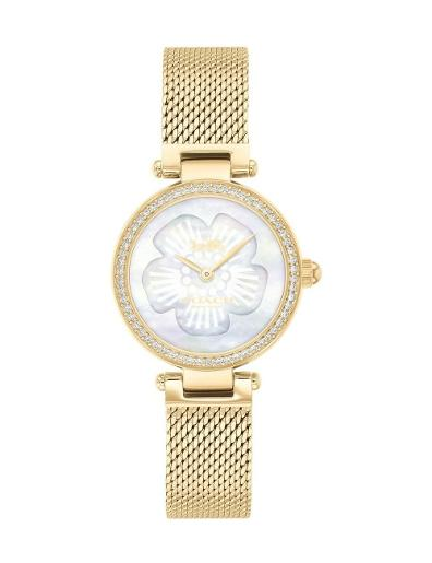 Coach Women's Park Silver Dial Gold Stainless Steel Watch. 14503512