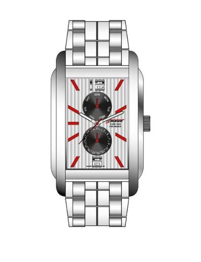 Cruiser Men's Silicon Strap Multifunction C8578-GSWB